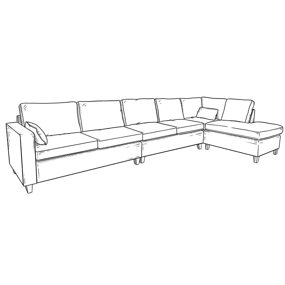 The Donard Corner Sofa Example Configuration