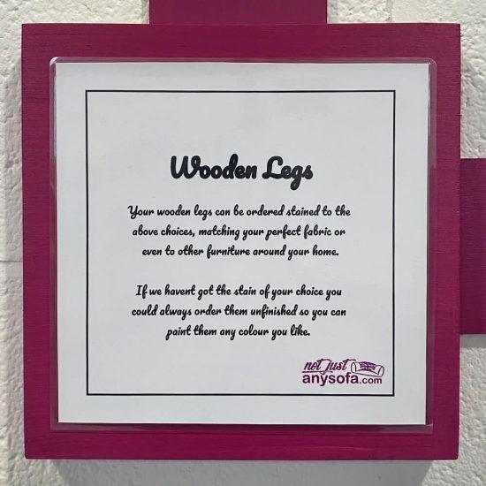 Wooden legs display card