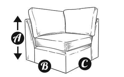 Sofa Corner section diagram