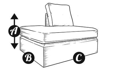 Sofa Left Chaise Section Diagram