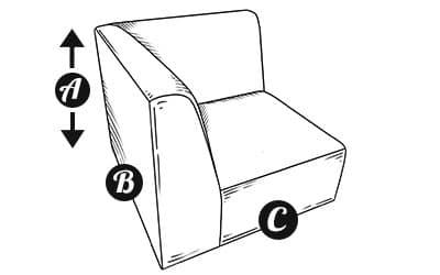 Sofa Modular corner Section