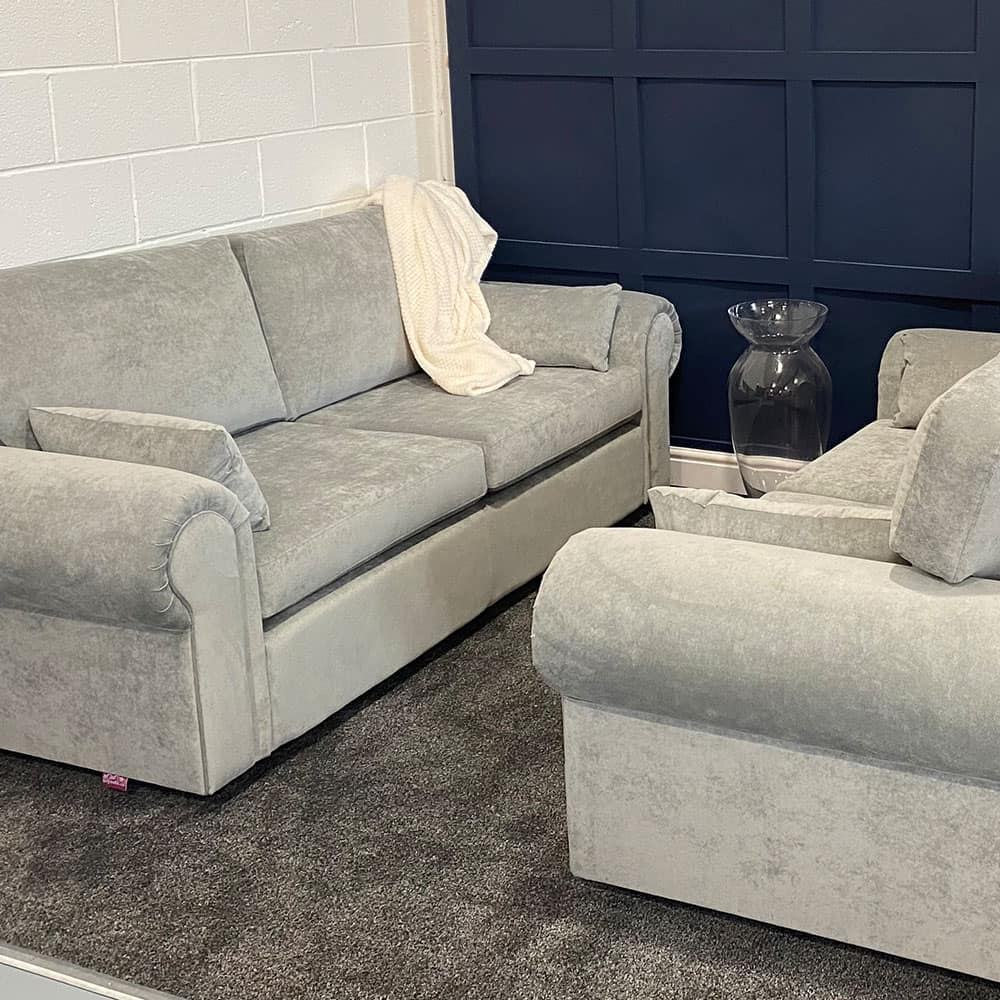 The Buachaille, 3 & 2.5 Seater in Danza, Sliver, Stock Set