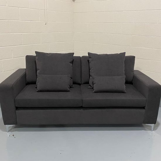 The Donard, 4 seater in Cantare, Charcoal with Lumbars & Scatters