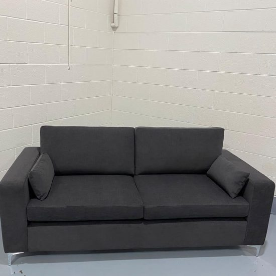 The Donard, 4 seater in Cantare, Charcoal, with Lumbars