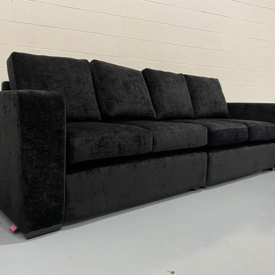 The Donard, Left Hand Facing 2 Seater Section & Right Hand Facing 2 Seater Section in Presto, Black