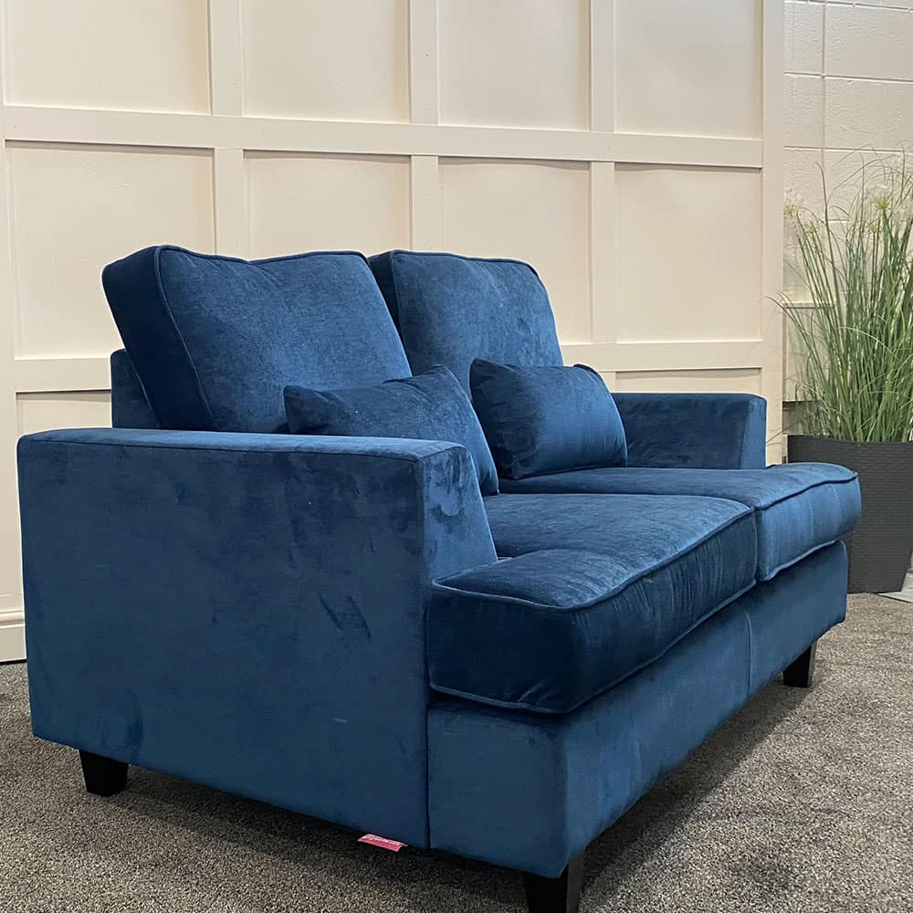 The Helvellyn, 2 Seater in Danza, Navy with Lumbars