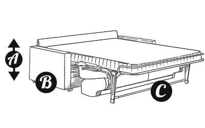 Sofa bed diagram