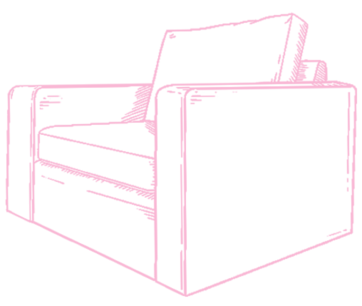 outline drawing of custom made armchair